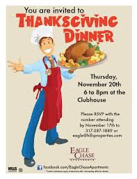 here is another thanksgiving dinner flyer that ec used resident