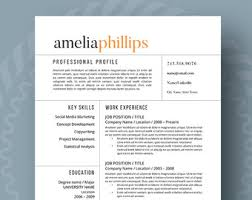 Reference Page Resume Template Inspired Resume Templates For The Stylish By Resumefoundry On Etsy