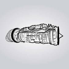 black vector combat air force fighter aircraft engine drawing