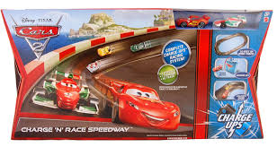 cars movie disney pixar cars 2 movie exclusive charge ups track set charge