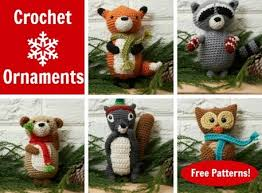 winter wildlife free crochet ornament patterns craftfoxes