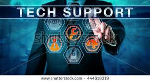 Virtual Help Desk Corporate Customer Pushing Tech Support On Stock Photo 444618319
