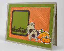 pug thank you card etsy