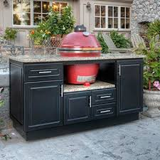 Green Egg Kitchen - custom outdoor cabinets for big green egg gas grills and bbq