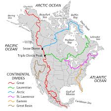 The United States Map With Names by Continental Divide Of The Americas Wikipedia