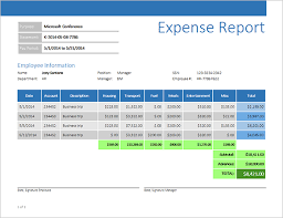 Detailed Expense Report Template by Expense Report With Business Objects