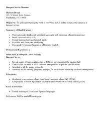 sample resume for server astounding design objective for a resume