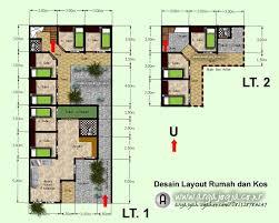 software design layout rumah layout denah rumah dan tempat usahan kos kosan