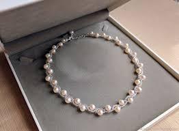 pearl bracelet set images Freshwater pearl jewelry set wedding necklace and bracelet set jpg