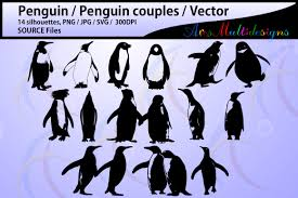 penguin silhouette svg penguin high design bundles