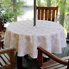 Patio Tablecloth Round Amazon Com Elrene Home Fashions 37686blu Monterey Outdoor Flannel