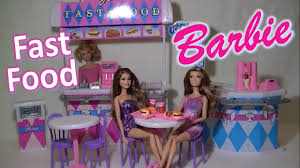 Barbie Dining Room Barbie Gloria Fast Food Set Furniture For Dreamhouse Play Toy