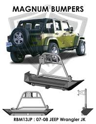 jeep rear bumper 07 09 jeep wrangler jk magnum winch rear bumper