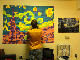 starry night post it mural youtube starry night post it mural