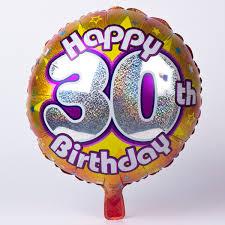 birthday helium balloons gold age 30 foil helium balloon 2 49