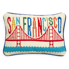 san francisco needlepoint throw pillow throw pillows jonathan