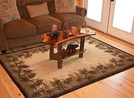 rustic rugs for living room amazon com