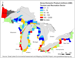 Map Of Michigan Lakes New Ultra Detailed Maps Of Great Lakes Recreational Use Will