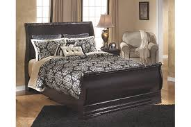 Sleigh Bed With Drawers Esmarelda Queen Sleigh Bed Ashley Furniture Homestore