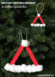 santa hat ornament using craft sticks buggy