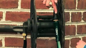 water hose reel wall mount ames decorative wall mount hose reel youtube