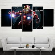 painting home decor frame room modern printed canvas 5 pieces wall painting home decor frame room modern printed canvas 5 pieces wall art pictures cartoon movie iron man characters poster pengda in painting calligraphy