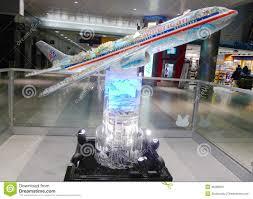 Jfk Terminal 8 Map American Airlines Plane Model In Jfk Airport Terminal 8 In New