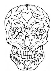 coloring pages of skulls funycoloring
