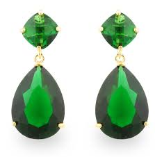 green earrings jankuo jewelry gold tone inspired