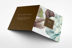 beautiful funeral programs begonia funeral program design branding ideas