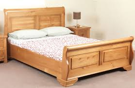 Platform Sleigh Bed Beauteous Solid Wood Bed Frame Solid Wood Bed Frame Med