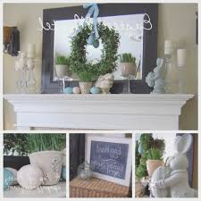 easter home decorating ideas fireplace creative easter fireplace decorations design ideas