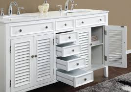 artistic cottage style vanities for bathrooms with white louvered