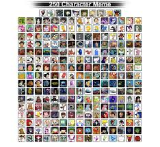 Memes Characters - my 250 favorite characters by zim999 on deviantart