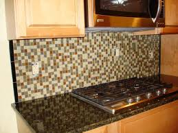 backsplashes colorful glass mosaic tile backsplash with cool colorful glass mosaic tile backsplash with cool black glass countertop plus charming wooden cabinets with floating oven ideas
