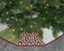 snowman tree skirt etsy