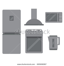 icons home appliances arranged circle style stock vector 373103155