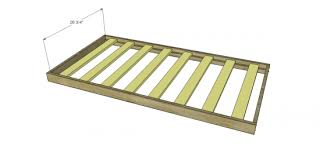 Crib Mattress Support Frame Free Diy Furniture Plans To Build A Land Of Nod Inspired Low Rise