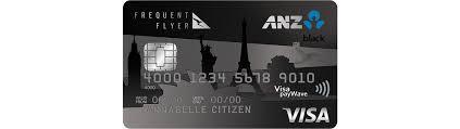 Visa Black Card Invitation Frequent Flyer Black Credit Card Anz