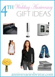 4th anniversary gift ideas 4th year anniversary 4th anniversary gifts