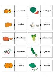 fruit and vegetables domino game