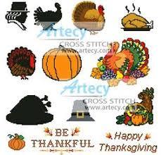 thanksgiving motifs cross stitch pattern thanksgiving