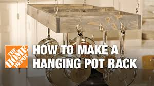 pleasurable make your own kitchen pot rack homey how to a hanging