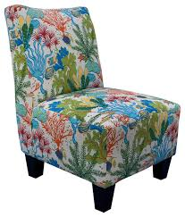 Aqua Accent Chair Armless Accent Chair Floral Reef Armchairs And Accent Chairs