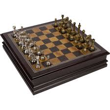 amazon com grace chess inlaid wood board game with metal pieces
