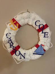 jeep wreath theme nautical baby shower diaper wreath i know she u0027s thinking about