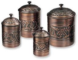bronze kitchen canisters antique embossed heritage canister set 4