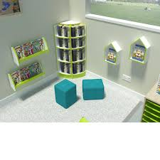 curvy corner bookcase perfect for primary classroom reading