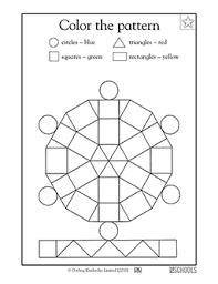 kindergarten preschool math worksheets color the pattern math
