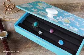 Making A Jewelry Box - how to make a diy jewelry box everyday dishes u0026 diy